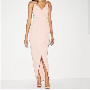 Express Surplice faux wrap maxi dress